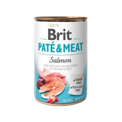 BRIT PATE & MEAT SALMON 400 g