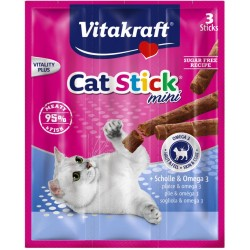 VITAKRAFT CAT STICK MINI 3szt flądra/omega3 d/kot