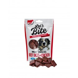 BRIT LET'S BITE MEAT SNACKS BEEF DICES with CHICKEN 80g
